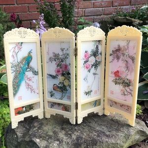 Vintage Miniature Room Divider Screen